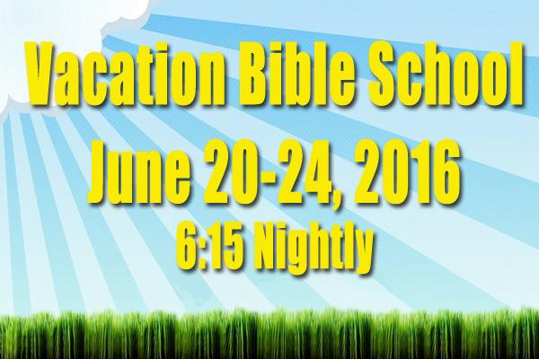 June 20 24 2016 Vacation Bible School Jordan Grove Mbc